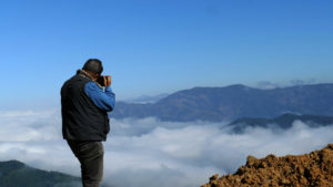 Rahul Rao photographing clouds during our Holidays to Manipur in North East