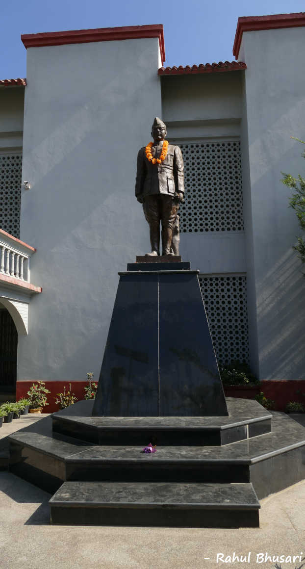 The statue of Subhash Chandra Bose at INA Museum at Moirang. Indian Tricolor was unfurled here. Holidays to Manipur in North East are incomplete without a visit here.