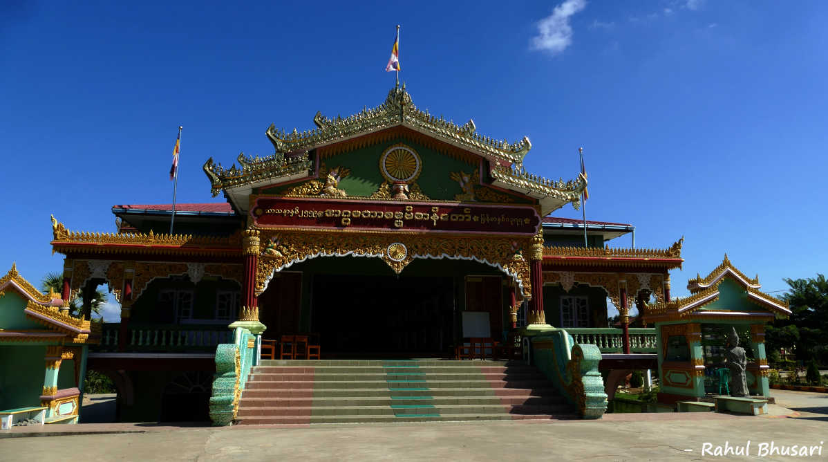 A monastery in Tamu, Myanmar. Holidays to Manipur in North East can take your to Myanmar!
