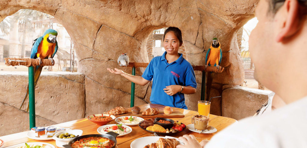 Lunch with Parrots at Jurong Bird Park