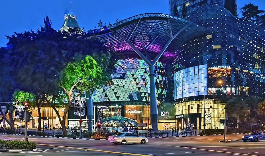 Ion Mall Night view at Orchard Road, Singapore