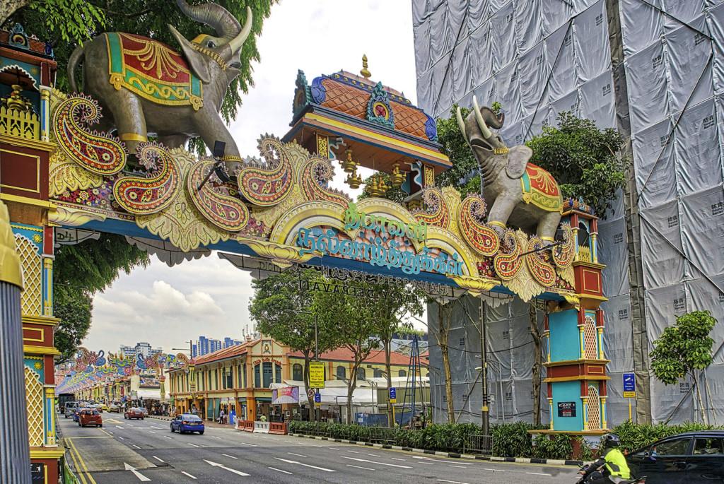 Diwali decorations at Little India, Singapore