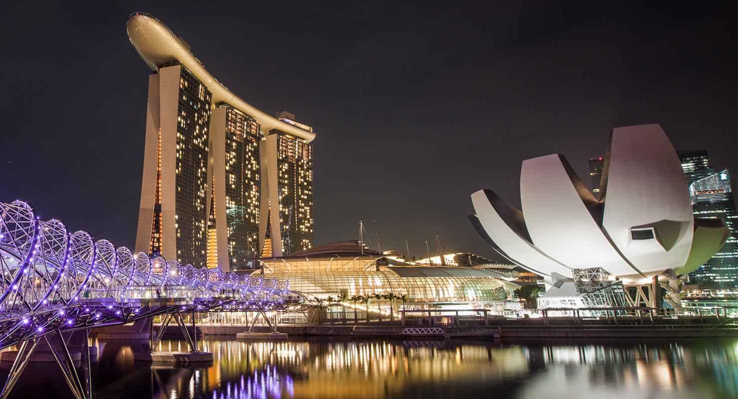 Marina Bay, Singapore Night View