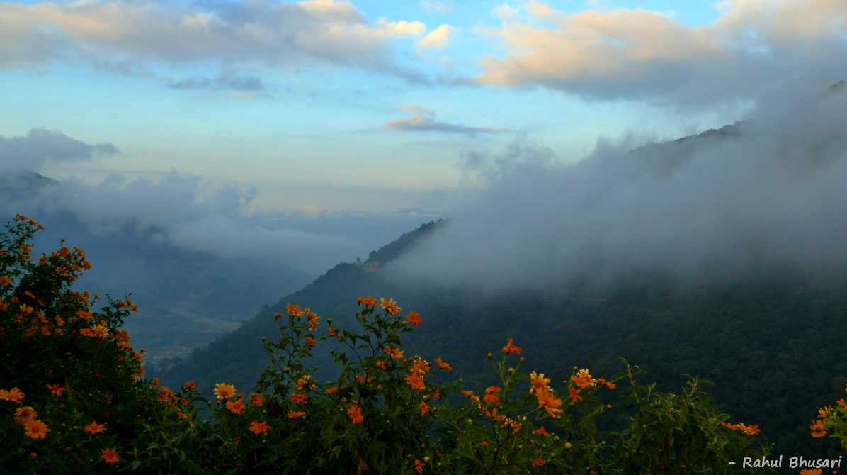 Over the clouds at Khonoma, Nagaland