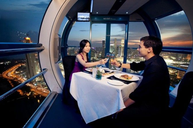 Dinner at Singapore Wheel