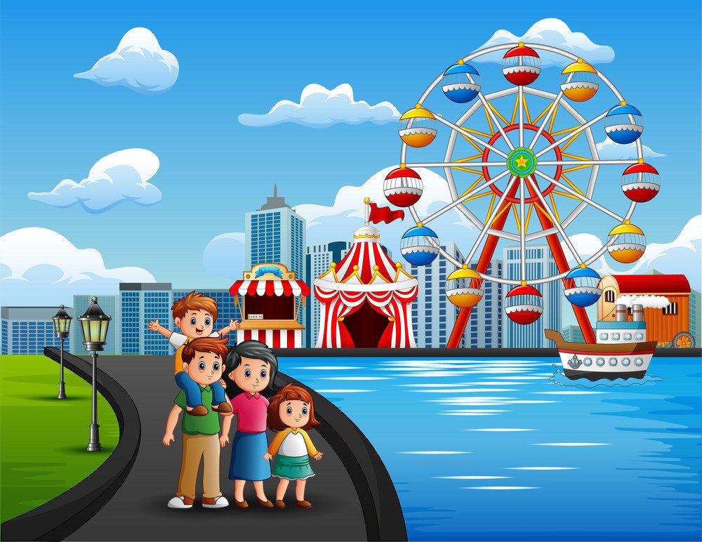 Family enjoying holidays at Singapore